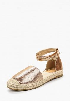 Эспадрильи, Catisa, цвет: золотой. Артикул: CA072AWBMKR8. Обувь
