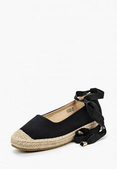Эспадрильи, Catisa, цвет: черный. Артикул: CA072AWBMKS1. Обувь