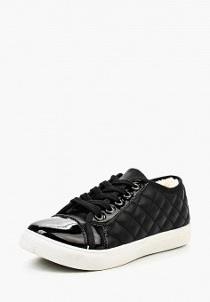 Кеды, Catisa, цвет: черный. Артикул: CA072AWGLE52. Обувь