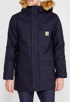 Куртка утепленная, Carhartt, цвет: синий. Артикул: CA088EMWHW28. Одежда / Верхняя одежда / Пуховики и зимние куртки