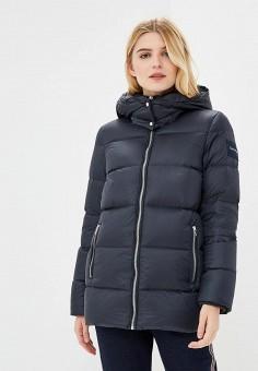 Пуховик, Calvin Klein, цвет: синий. Артикул: CA105EWCOKE4. Premium / Одежда / Верхняя одежда / Зимние куртки