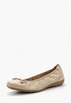 Балетки, Caprice, цвет: бежевый. Артикул: CA107AWAAHS3. Обувь / Балетки