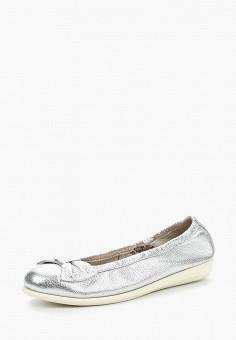Балетки, Caprice, цвет: серебряный. Артикул: CA107AWAAHS5. Обувь / Балетки