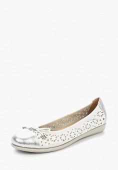 Балетки, Caprice, цвет: белый. Артикул: CA107AWAAHS7. Обувь / Балетки