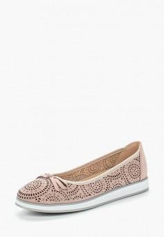 Балетки, Caprice, цвет: розовый. Артикул: CA107AWAAHT0. Обувь / Балетки