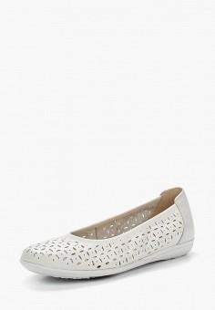 Балетки, Caprice, цвет: белый. Артикул: CA107AWAAHT3. Обувь / Балетки