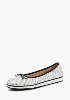 Балетки, Caprice, цвет: белый. Артикул: CA107AWAAHT5. Обувь / Балетки