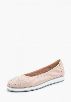Балетки, Caprice, цвет: розовый. Артикул: CA107AWAAHT6. Обувь / Балетки