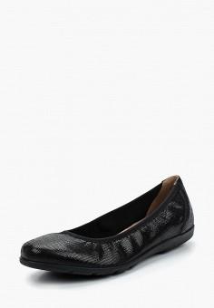 Балетки, Caprice, цвет: черный. Артикул: CA107AWAAHT7. Обувь / Балетки