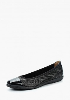 Балетки, Caprice, цвет: черный. Артикул: CA107AWAAHT8. Обувь / Балетки