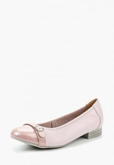 Балетки, Caprice, цвет: розовый. Артикул: CA107AWAAHU0. Обувь / Балетки