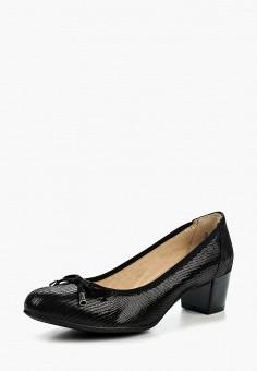 Туфли, Caprice, цвет: черный. Артикул: CA107AWAAHU6. Обувь / Туфли / Закрытые туфли