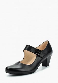 Туфли, Caprice, цвет: черный. Артикул: CA107AWAAHV7. Обувь / Туфли / Закрытые туфли