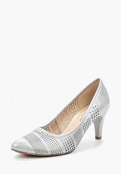 Туфли, Caprice, цвет: серый. Артикул: CA107AWAAHW9. Обувь / Туфли / Закрытые туфли