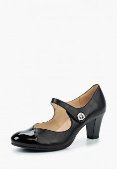 Туфли, Caprice, цвет: черный. Артикул: CA107AWAAIA5. Обувь / Туфли / Закрытые туфли