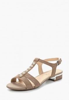 Сандалии, Caprice, цвет: бежевый. Артикул: CA107AWAAIE9. Обувь / Сандалии