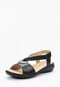 Сандалии, Caprice, цвет: черный. Артикул: CA107AWAAIJ6. Обувь / Сандалии