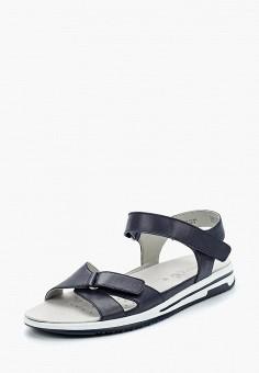 Сандалии, Caprice, цвет: синий. Артикул: CA107AWAAIK4. Обувь / Сандалии
