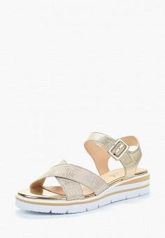 Сандалии, Caprice, цвет: золотой. Артикул: CA107AWAAIK8. Обувь / Сандалии