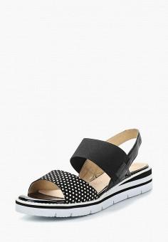 Сандалии, Caprice, цвет: черный. Артикул: CA107AWAAIL1. Обувь / Сандалии