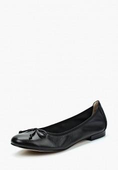 Балетки, Caprice, цвет: черный. Артикул: CA107AWAAIX2. Обувь / Балетки