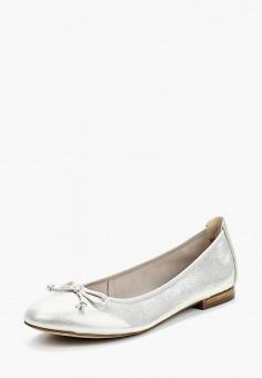Балетки, Caprice, цвет: серебряный. Артикул: CA107AWAAIX6. Обувь / Балетки