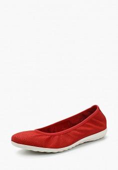 Балетки, Caprice, цвет: красный. Артикул: CA107AWAAIX9. Обувь / Балетки