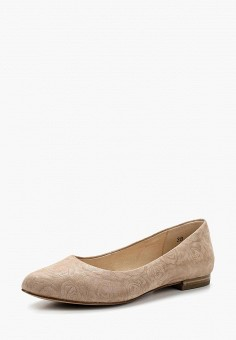 Балетки, Caprice, цвет: бежевый. Артикул: CA107AWAAIY3. Обувь / Балетки