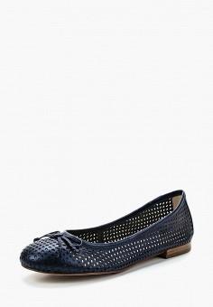 Балетки, Caprice, цвет: синий. Артикул: CA107AWAAIY9. Обувь / Балетки