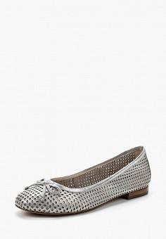 Балетки, Caprice, цвет: серебряный. Артикул: CA107AWAAIZ0. Обувь / Балетки