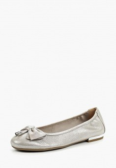 Балетки, Caprice, цвет: серебряный. Артикул: CA107AWAAIZ4. Обувь / Балетки