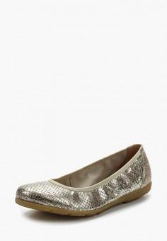 Балетки, Caprice, цвет: золотой. Артикул: CA107AWAAJA5. Обувь / Балетки