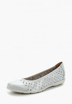 Балетки, Caprice, цвет: белый. Артикул: CA107AWAAJA6. Обувь / Балетки