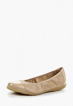 Балетки, Caprice, цвет: бежевый. Артикул: CA107AWAAJB0. Обувь / Балетки