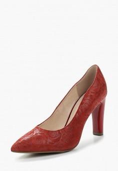Туфли, Caprice, цвет: красный. Артикул: CA107AWAAJB9. Обувь / Туфли / Закрытые туфли