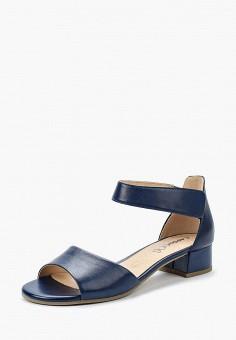 Босоножки, Caprice, цвет: синий. Артикул: CA107AWAAJH5. Обувь / Босоножки