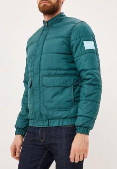 Куртка утепленная, Calvin Klein Jeans, цвет: зеленый. Артикул: CA939EMBTJX9. Одежда / Верхняя одежда / Демисезонные куртки