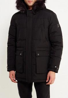 Куртка утепленная, Calvin Klein Jeans, цвет: черный. Артикул: CA939EMUHL63. Одежда / Верхняя одежда / Пуховики и зимние куртки