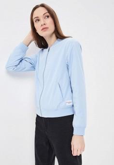 Куртка, Calvin Klein Jeans, цвет: голубой. Артикул: CA939EWBCAW6. Одежда / Верхняя одежда / Легкие куртки и ветровки