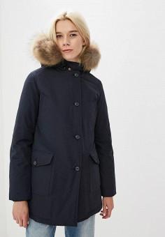 Пуховик, Canadian, цвет: синий. Артикул: CA998EWBXRE1. Premium / Одежда / Верхняя одежда / Зимние куртки