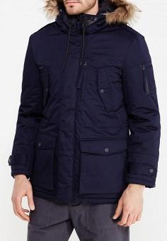 Парка, Celio, цвет: синий. Артикул: CE007EMVGP27. Одежда / Верхняя одежда / Пуховики и зимние куртки