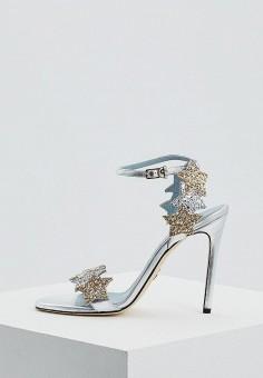 Босоножки, Chiara Ferragni Collection, цвет: серебряный. Артикул: CH057AWAMHK0. Premium / Обувь / Босоножки