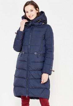 Куртка утепленная, Clasna, цвет: синий. Артикул: CL016EWYFC35. Одежда / Верхняя одежда / Пуховики и зимние куртки