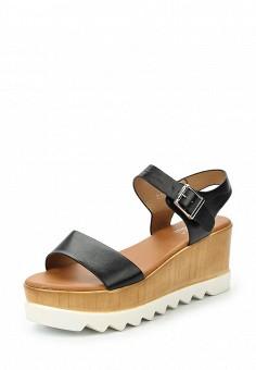 Босоножки, Clowse, цвет: черный. Артикул: CL020AWTUZ02. Обувь / Босоножки