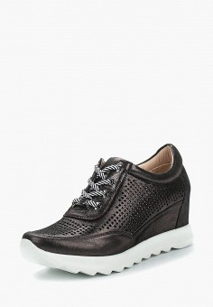 Кеды на танкетке, Covani, цвет: черный. Артикул: CO012AWAUSG2. Обувь / Кроссовки и кеды / Кеды