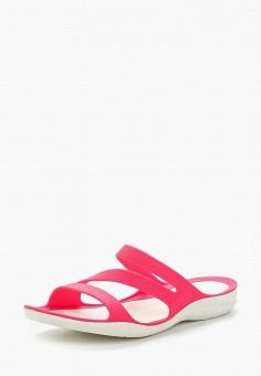 Сланцы, Crocs, цвет: розовый. Артикул: CR014AWARRE1.