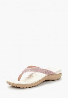 Сланцы, Crocs, цвет: розовый. Артикул: CR014AWARRF4.