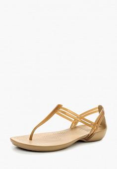 Сандалии, Crocs, цвет: бежевый. Артикул: CR014AWIED19. Обувь / Сандалии