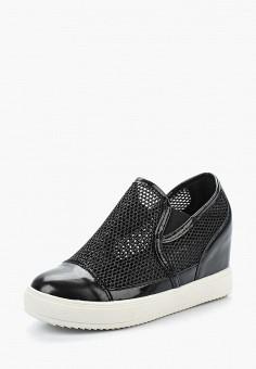 Кеды на танкетке, Damerose, цвет: черный. Артикул: DA016AWAZCI9. Обувь / Кроссовки и кеды / Кеды