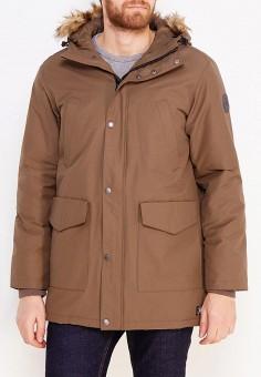 Куртка утепленная, DC Shoes, цвет: коричневый. Артикул: DC329EMVNP90. Одежда / Верхняя одежда / Пуховики и зимние куртки
